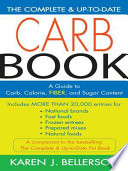 The Complete And Up-to-Date Carb Book : in carb management, providing a quick,...