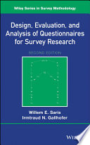 Design  Evaluation  and Analysis of Questionnaires for Survey Research