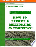 How to Become a Millionaire in 36 Months