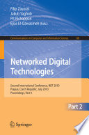Networked Digital Technologies  Part II