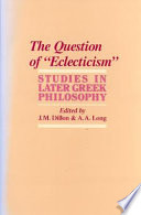 The Question of  eclecticism
