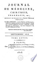 Journal de m  decine  de chirurgie et de pharmacie