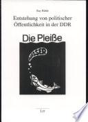 Entstehung von politischer   ffentlichkeit in der DDR in den 1980er Jahren am Beispiel von Leipzig