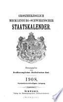 Grossherzoglich Mecklenburg Schwerinscher Staatskalender