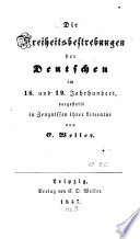 Die Freiheitsbestrebungen der Deutschen im 18. Und 19