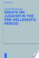 Essays on Judaism in the Pre-Hellenistic Period The Liquidation Of The Judean State To