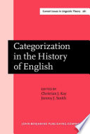 Categorization In The History Of English book