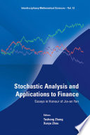 Stochastic Analysis and Applications to Finance