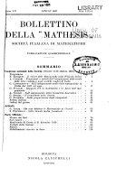 Bollettino della  Mathesis  Societ   italiana de matematiche