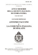 Antonio Tacconi e la comunit   italiana di Spalato