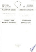 Orders of the Day Minutes of Proceedings