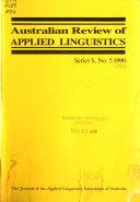 Australian Review of Applied Linguistics