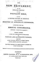 The New Testament of the English Version of the Polyglott Bible