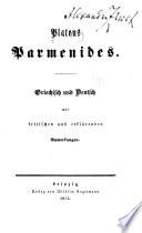 Platons Parmenides