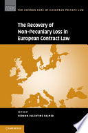 The Recovery of Non Pecuniary Loss in European Contract Law