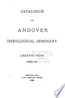 Catalogue of Andover Theological Seminary