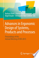 Advances in Ergonomic Design of Systems  Products and Processes