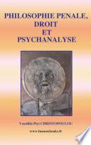 illustration PHILOSOPHIE PENALE, DROIT ET PSYCHANALYSE