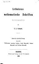 Leibnizens mathematische Schriften