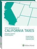 California Taxes  Guidebook to  2017