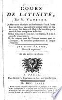 Cours De Latinit
