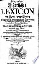 Allgemeines Historisches Lexicon0
