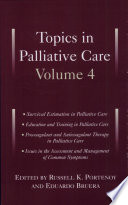 Topics in Palliative Care