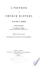 A Text book of Church History
