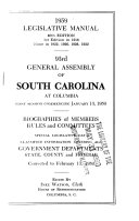 Legislative Manual General Assembly Of South Carolina