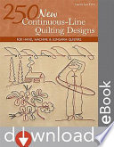 250 New Continuous Line Quilting Designs