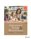 Educational Testing and Measurement  11th Edition
