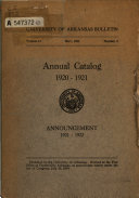 Catalogue of the University of Arkansas