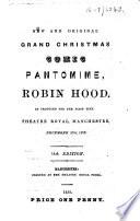 New And Original Grand Christmas Comic Pantomime Robin Hood 14th Edition