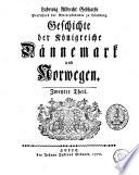 Geschichte der Königreiche Dännemark und Norwegen