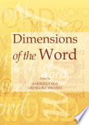 Dimensions of the Word