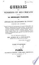Guerres des Vendéens et des Chouans contre la République Française