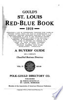 Gould S St Louis Red Blue Book