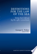 Definitions for the Law of the Sea