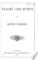 Psalms and Hymns for divine Worship