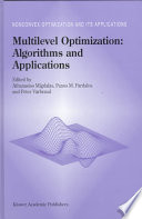 Multilevel Optimization Algorithms And Applications book