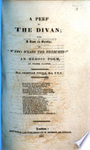 A Peep At The Divan With A Case In Equity Or Who Wears The Breeches An Heroic Poem In Three Cantos book