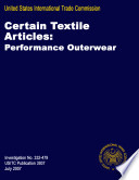 Certain Textile Articles: Performance Outerwear, Inv. 332-479
