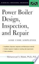 Power Boiler Design  Inspection  and Repair