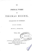 The Poetical Works of Thomas Moore Book PDF