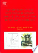 New Developments In High Pressure Mineral Physics And Applications To The Earth S Interior book