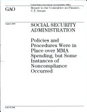 download ebook social security administration: policies and procedures were in place over mma spending, but some instances of noncompliance occurred pdf epub