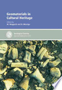 Geomaterials in Cultural Heritage