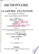 Dictionnaire de l Acad  mie fran  oise  A K