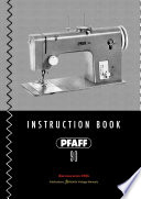 PFAFF 90   Instruction Book