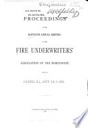 Proceedings of the     Annual Meeting of the Fire Underwriters Association of the Northwest